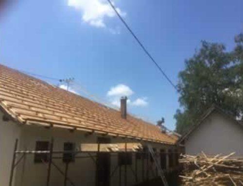 Rekonstrukcija krovišta društvenog doma u Meci