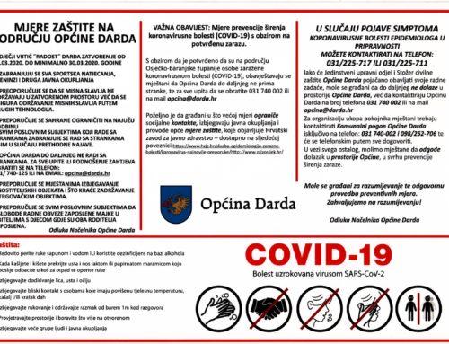 OBVEZNE MJERE U CILJU SPRIJEČAVANJA ŠIRENJA KORONA VIRUSA – COVID-19